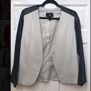 H&M Blazer jacket white and black